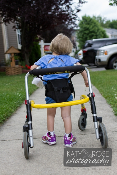 Kylee Rose, Three years old and living with Cystic Fibrosis and Skeletal Muscular Atrophy, Day-to-day life (Captured throughout May-June 2014), Around her home in Elkton, Maryland.