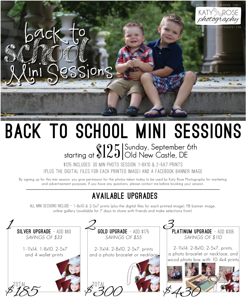 Back to School Mini Sesion
