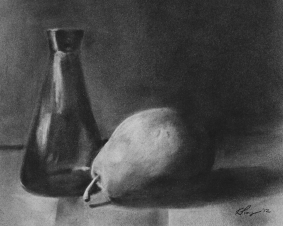 Pear and Glass