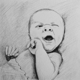 Baby Vance, black colored pencil 2016